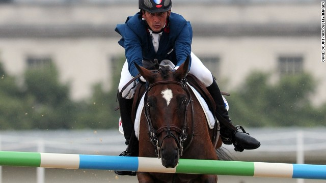 For Baxter, the signature sound of showjumping is that of a fence clattering to the ground -- as demonstrated here by France's Lionel Guyon and Nemetis De Lalou at London 2012. Tiny microphones on the jumps capture the sound.