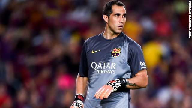 Claudio Bravo has keep a clean sheet for seven straight games in the La Liga this season.