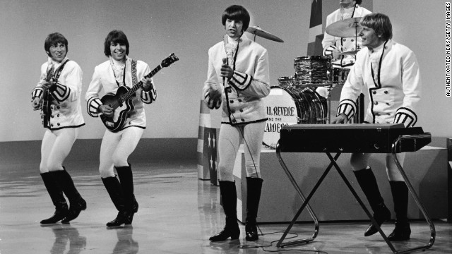 Paul Revere, on keyboards, performs with Paul Revere & the Raiders in the 1960s.