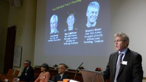 Professor Ole Kiehn announces the winners of the 2014 Nobel Prize in Physiology or Medicine for discoveries of cells that constitute a positioning system in the brain.