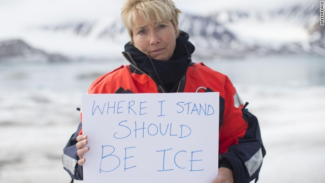 Thompson has gone on an Arctic expedition to call on governments to protect the area.