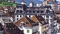 La Chaux de Fonds, Avenue Léopold Robert. Neuchâtel: Phototypie Co., Postmark 16.6.1919