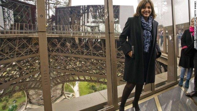 "Paris Mayor Anne Hidalgo says the new floor proves Parisians can re-invent their city ""without ruining its history."""