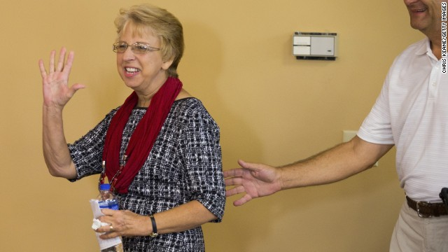 Nancy Writebol, an American missionary, tested positive for Ebola in Liberia in July. She was flown to Atlanta's Emory University Hospital, arriving on August 6, and she was released on August 19.