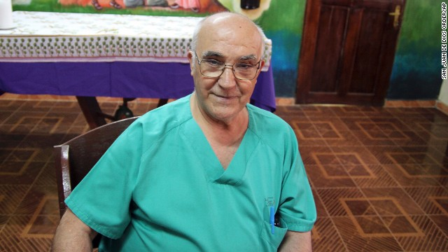 Spanish priest Manuel Garcia Viejo was diagnosed with Ebola while working in Sierra Leone. He was flown back to Spain for treatment before he died.
