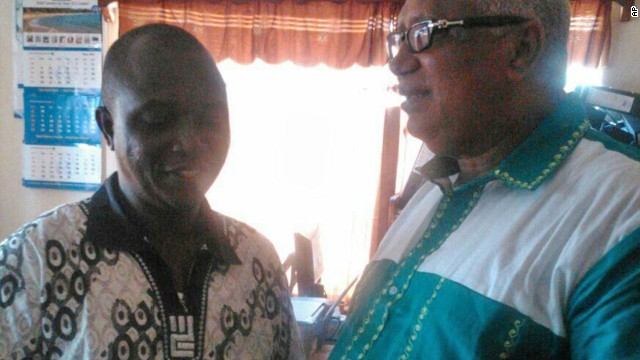 The well-known Dr. Sheik Humarr Khan, left, died after contracting Ebola while helping patients in Sierra Leone.
