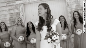 Brittany Maynard shares a moment with her bridesmaids.