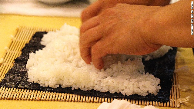 The best sushi rice is a mix of hard and soft rice. Rice grown in the mountains is known to be the best rice for sushi.
