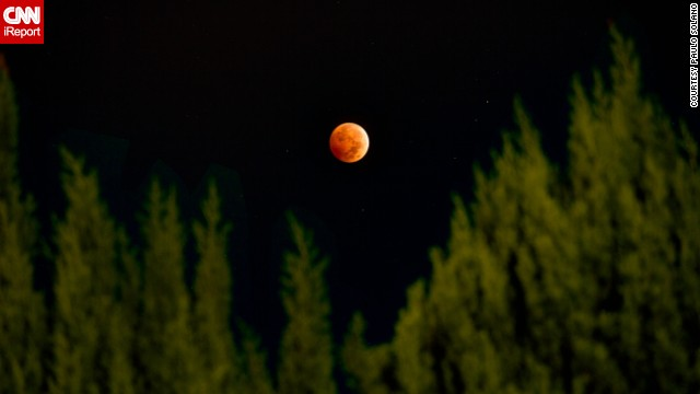 "<a href='http://ireport.cnn.com/docs/DOC-1177472'>Paulo Solano</a> combined three different exposures using HDR photography to create this beautiful image from Van Nuys, California, of the October 8 lunar eclipse. The second ""blood moon"" of the year could be witnessed throughout North America, as well as over most of the Pacific and much of East Asia. If you missed your chance to see it, don't despair. Two more eclipses are coming in 2015, on April 4 and September 28."