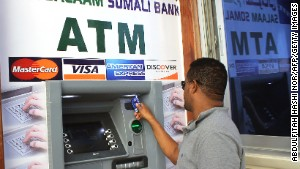 Somali capital gets first cash machine
