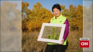 Greening China's deserts