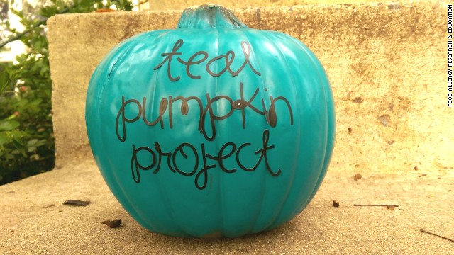 Food Allergy Research & Education urges placing a teal pumpkin outside on Halloween if you have non-food items to share.