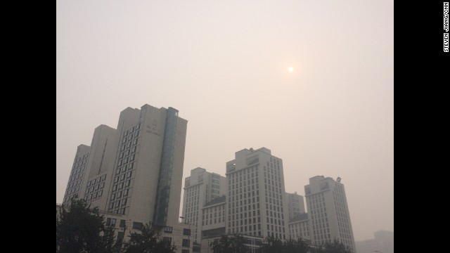 "BEIJING: ""Where is the sun? One knows winter is approaching in Beijing when the familiar smog returns and air pollution index reaches to hazardous again."" - CNN's Steven Jiang, October 9. Follow Steven (@stevencnn) and other CNNers along on Instagram at instagram.com/cnn."