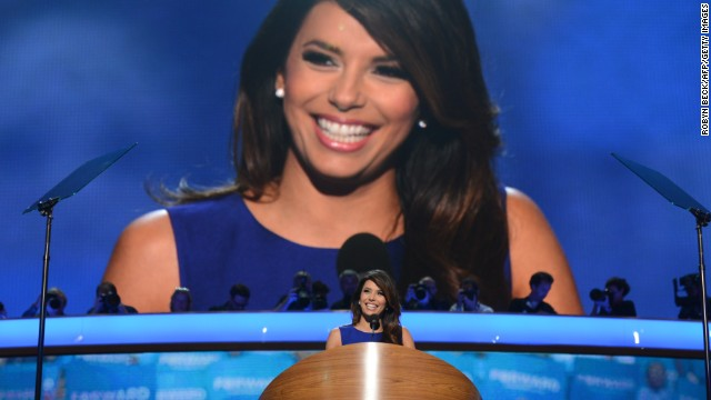 Actress Eva Longoria has been one of Obama's biggest supporters. She helped bundle hundreds of thousands of dollars for Obama and served as a top surrogate. Here she's speaking to the audience at the Democratic National Convention in Charlotte, North Carolina, in September 2012.