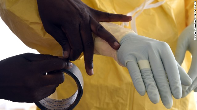 Tape is often used to seal the gap between sleeves and protective gloves. Shoes are often covered with boot protection and extra loose sleeves can be used to protect the underarms.