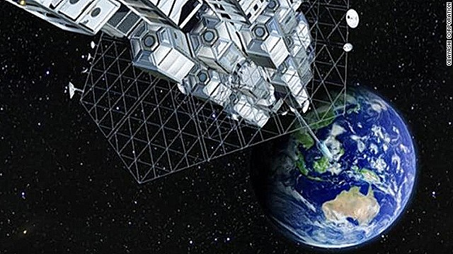 A space station tethered to the earth at the equator would need a cable some 96,000km long. While researchers have only produced short lengths of tough and lightweight 'nanothreads,' scientists say advances that would make a space elevator possible are only decades away.