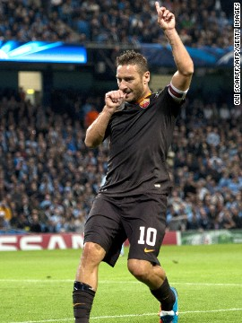Roma's first European Champions League campaign since the 2010-11 season has begun promisingly with a 5-1 win against CSKA Moscow and a 1-1 draw at Manchester City. Veteran striker Francesco Totti scored the equalizer to deny the English club.