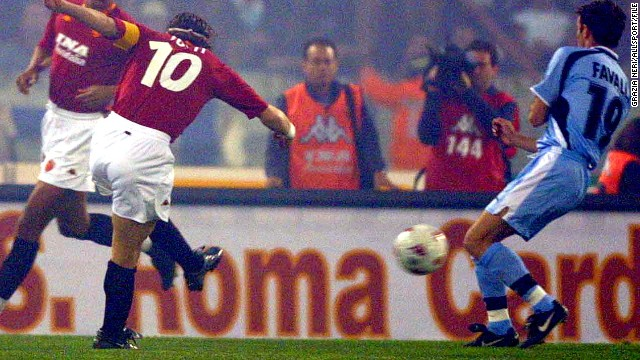 Totti made his debut for Roma at the age of 16 and is still a key member of Rudi Garcia's team.
