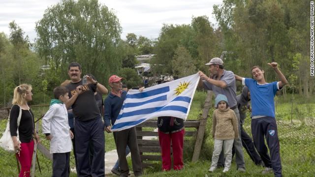 Refugiados sirios llegan a Uruguay