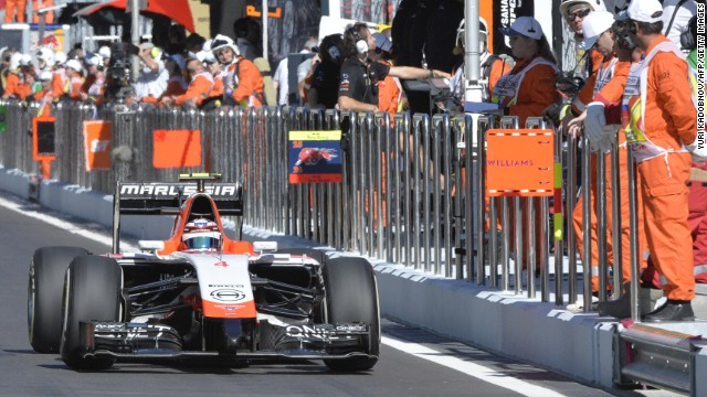 Britain's Max Chilton is the Anglo-Russian outfit's sole entry for Sunday's race. Bianchi is the only Marussia driver to have won championship points in the team's four seasons on the grid.