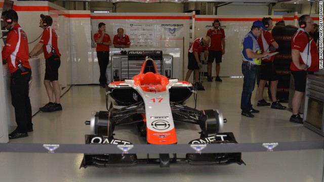 The Marussia team has decided to race just one car at the inaugural Russian Grand Prix after Jules Bianchi suffered serious brain injuries in a crash at Suzuka last weekend. The Frenchman's vehicle is shown here in Sochi.