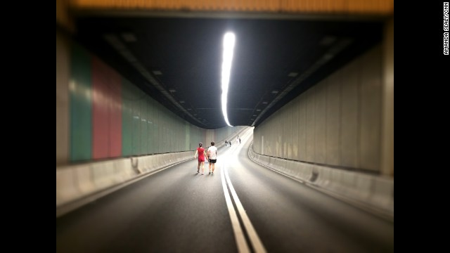 "HONG KONG: ""Empty tunnels in Hong Kong courtesy of Occupy Central."" - CNN's Amanda Sealy, October 11. Follow Amanda (@asealy7) and other CNNers along on Instagram at instagram.com/cnn."