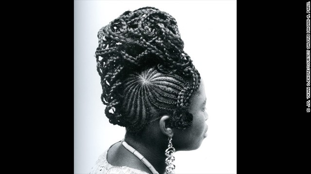 "Ojeikere's more prolific collection is his ""Hairstyles"" series for which he garnered international success. Spanning over 60 years, he snapped hundreds of women, taking his muses from their work, home and daily routines to visually document the changing hairstyles. He soon saw parallels between the changing fashion styles and the newly-independent nation coming to terms with post-colonization."