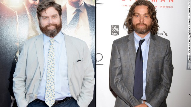 "Is that you, Zach Galifianakis? If it weren't for the scruff, we might not recognize the comedic actor and ""Between Two Ferns"" host as he arrived at a New York Film Festival screening of his newest movie, ""Birdman,"" on Saturday, October 11. The actor first started slimming down in 2013, <a href='http://teamcoco.com/video/zach-galifianakis-drinking' target='_blank'>when he decided to stop drinking. </a>"