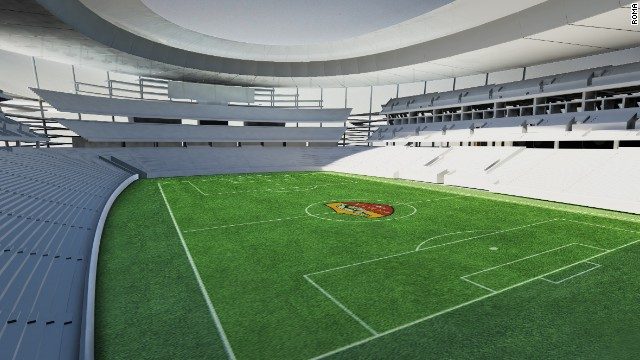 The new 'Curva Sud' will house the team's hardcore fans has space for 13,660 supporters.