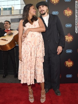 After playing coy about Zoe Saldana's growing baby bump, the actress and husband Marco Perego eventually confirmed that they're expecting.