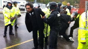 Professor Cornel West was arrested Monday in Ferguson, Missouri, a protest event organizer says.