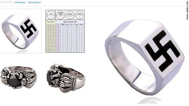 "Online shoppers were shocked to find a ring featuring a swastika design listed for sale on Sears' website in October. After consumers unleashed criticism via Twitter, and media outlets like Haaretz and Kveller publicized the gaffe, Sears pulled down the ad and expressed regret about its placement on the site. ""This item is a 3rd party Sears Marketplace product that does not abide with our guidelines and has been removed,"" the company <a href='https://twitter.com/Sears/status/521728664606883843' target='_blank'>responded via Twitter</a>."