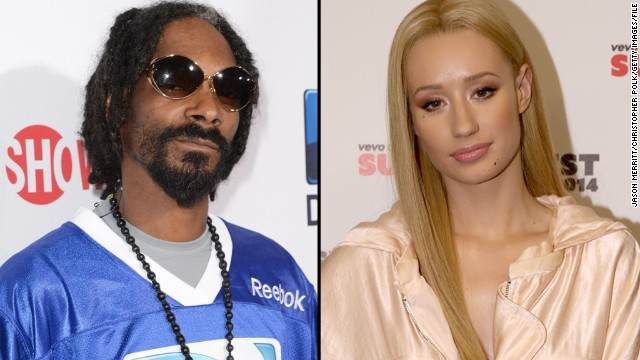 "Snoop Dogg and Iggy Azalea also battled in a very public way. After <a href='http://www.cnn.com/2014/10/15/showbiz/snoop-iggy-feud/index.html' target='_blank'>Snoop made fun of Iggy's appearance on social media</a>, the ""Fancy"" rapper responded with confusion, saying that she didn't understand why Snoop would be ""supportive to my face but another way on your Instagram."""