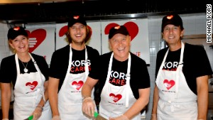 Designer Michael Kors, second from right, began working with God\'s Love We Deliver in the late 1980s.