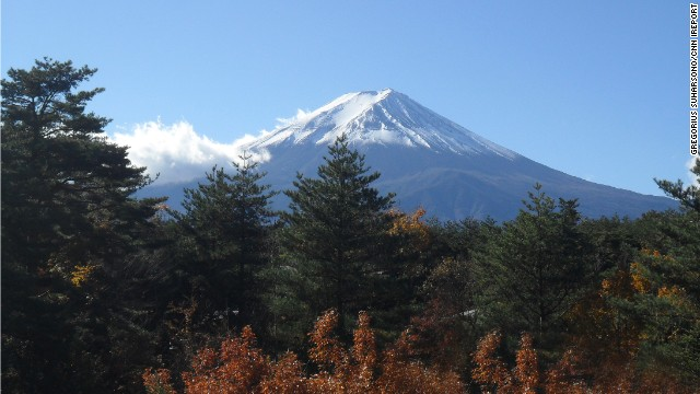 Mount Fuji, an active volcano, is also Japan's highest mountain. It stands at more than 12,000 feet.