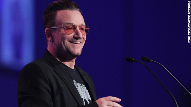 Bono told host Graham Norton he wears glasses for his glaucoma.