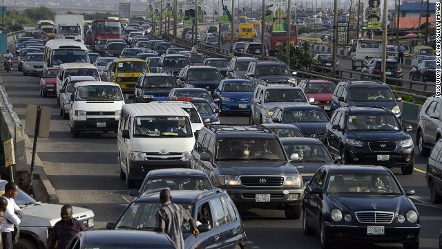 Getting to work often requires strong nerves in Lagos, as millions of commuters cram the streets of Nigeria's commercial center on a daily basis.