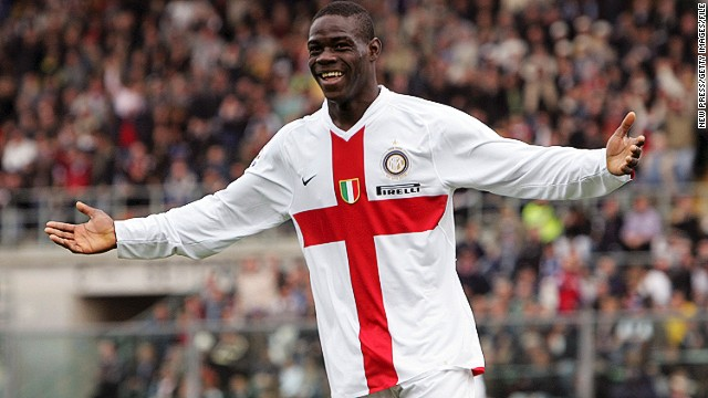 Balotelli burst onto the scene with AC Milan's city neighbors Internazionale in December 2007. He had a fractious relationship with then Inter boss Jose Mourinho, leaving for Manchester City in 2010 after scoring 20 goals in 59 matches for the club.