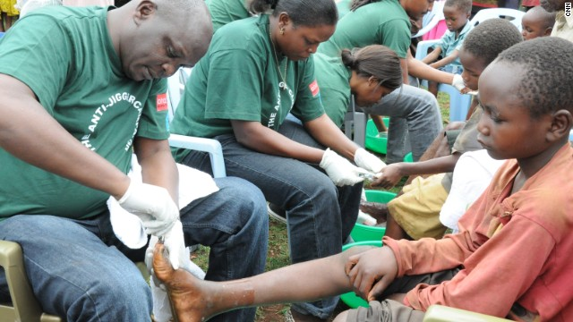 Kamau formed the Ahadi Kenya Trust, which provides medical treatment for 2.6 million Kenyans affected with jiggers.