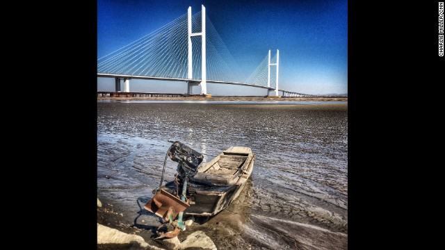 "DANDONG, CHINA: ""A newly completed road bridge crossing the Yalu River between the Chinese city of Dandong & North Korea."" - CNN's Charlie Miller, October 16. Follow Charlie (@cnncharlie) and other CNNers along on Instagram at instagram.com/cnn."