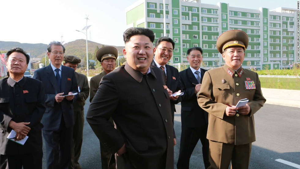 This undated photo, released Tuesday, October 14, by the state-run Korean Central News Agency, shows North Korean leader Kim Jong Un inspecting a housing complex in Pyongyang, North Korea. International speculation about Kim went into overdrive after he failed to attend events on Friday, October 10, the 65th anniversary of the Workers' Party. He hadn't been seen in public since he reportedly attended a concert with his wife on September 3.
