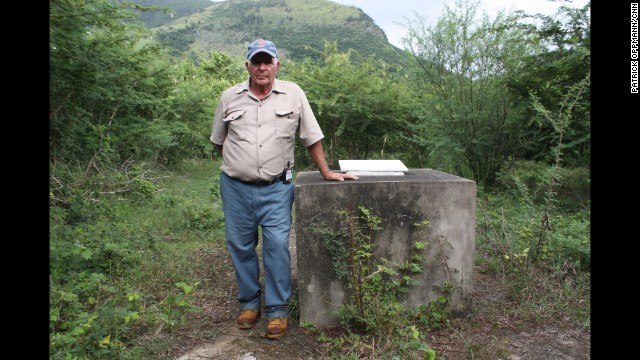 "CUBA: ""Farmer Omar Lopez stands by a memorial on his family land near San Cristobal, Cuba that marks where the Soviet Union secretly stationed nuclear missiles. US spy planes discovered the missiles 52 years ago this week, leading to the Cuban missile crisis or as its called here ""la crisis de octubre."" The stand off between Washington and Moscow was most likely the closest the world has ever come to nuclear war. Lopez's family was kicked off his farm and Russian troops ate their pigs. He told me that a blackout of the news in Cuba meant his family had no idea how much danger they were in. After the Soviets left, they got their farm back."" - CNN's Patrick Oppmann. Follow Patrick (@cubareporter) and other CNNers along on Instagram at instagram.com/cnn."