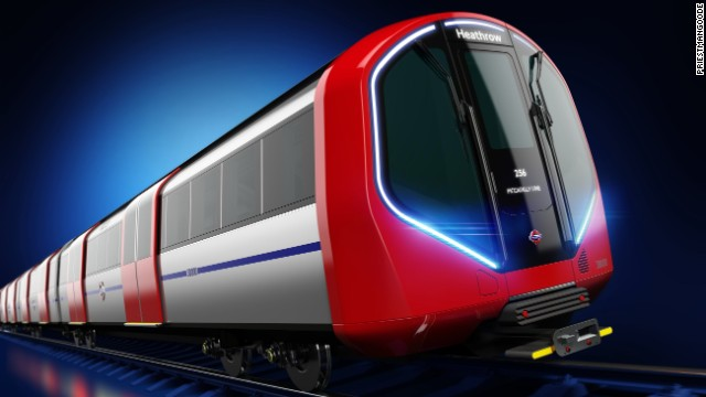 The new London Underground Tube train has been unveiled. It is both futuristic and in line with existing designs -- but is driverless.