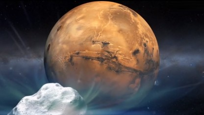 Comet narrowly misses Mars