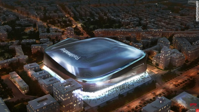 ... and how it will look in the future, with its retractable roof closed.