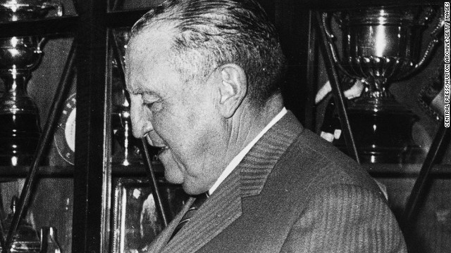 On 27 October 1944, legendary Real figure Santiago Bernabeu broke the ground on what is now the stadium that bears his name (reportedly against his wishes). In the 35 years of Bernabeu's presidency prior to his death in 1978, Real won 16 La Liga titles and 6 European Cups.