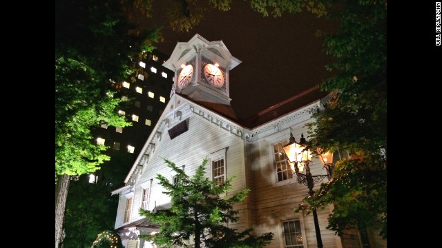 "SAPPORO, JAPAN: Hokkaido's famed clock tower, Tokei-dai, built in 1878 and rumored to have tolled every hour without fail since its construction."" - CNN's Will Ripley. Follow Will (@willripleycnn) and other CNNers along on Instagram at instagram.com/cnn."