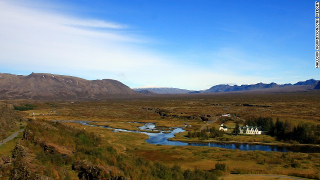 Located in Iceland, Thingvellir National Park receives thousands of visitors per year. The park offers many activities including camping, horseback riding and even diving in its famous waters. Thingvellir's waters are known for its great visibility between tectonic plates.
