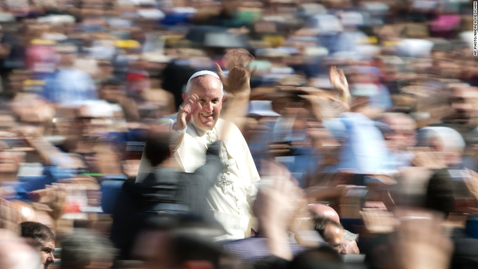 OCTOBER 20 - VATICAN: Pope Francis celebrates the beatification ceremony of<a href='http://edition.cnn.com/2014/10/19/world/europe/vatican-beatification/index.html?hpt=hp_t3'> Pope Paul VI</a>. The Synod of the Bishops on the Family has <a href='http://edition.cnn.com/2014/10/18/world/vatican-final-report/'>ended without agreement </a>over how to minister to gay and lesbian people or whether to give Holy Communion to Catholics who have divorced and remarried.
