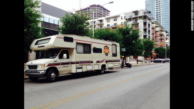 Heath has maneuvered the 29-foot RV through busy cities like New York, Chicago and Las Vegas.